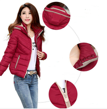 2016 Womens Winter Black Down Jackets And Coats Long Sleeve Plus Size Warm Jacket Thick Slim Zipper Parkas For Women