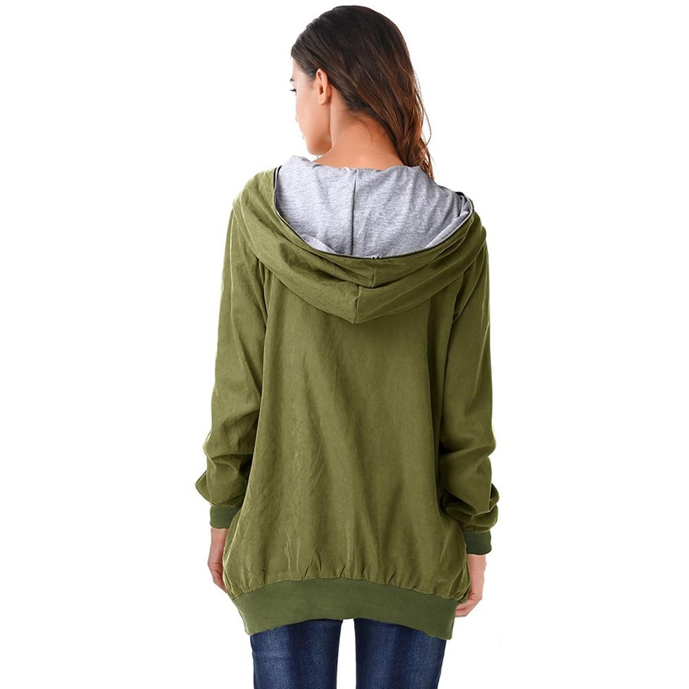 dd2632da470 Autumn Winter Plus Size Hoodies Women Zip Up Long Sleeve Loose Hooded  Jacket Coat Casual Loose Parka Black Zipper Sweatshirt