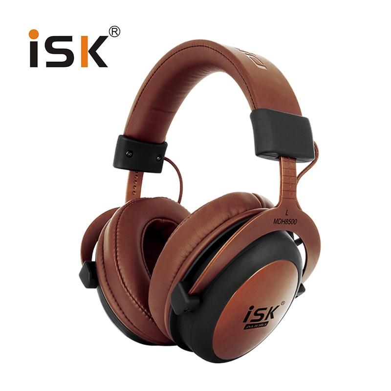 Original ISK MDH8500 Professional Monitor Studio Headphones Closed Dynamic Powerful DJ Over Ear HiFi Headset Auriculars