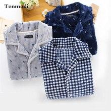 Пижамы для Для мужчин осень-зима утолщение фланель сна Twinset пижамы Для мужчин гостиная с длинными рукавами пижамный комплект Большие размеры XL