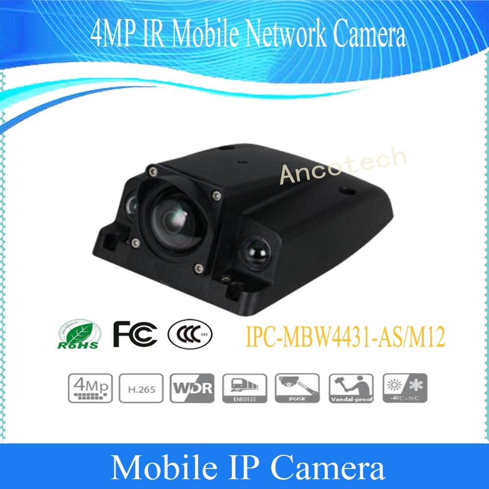 Livraison gratuite DAHUA caméra numérique Mobile 4MP IR caméra réseau Mobile IP67 IK10 IP6K9K avec DH-IPC-MBW4431-M12 PoE