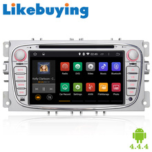 """Likebuying 7"""" 1024*600 Quad Core Car Audio For Ford Focus/Mondeo/S-max/C-max/Galaxy 2 DIN Android 4.4.4 Car DVD Player Stereo"""