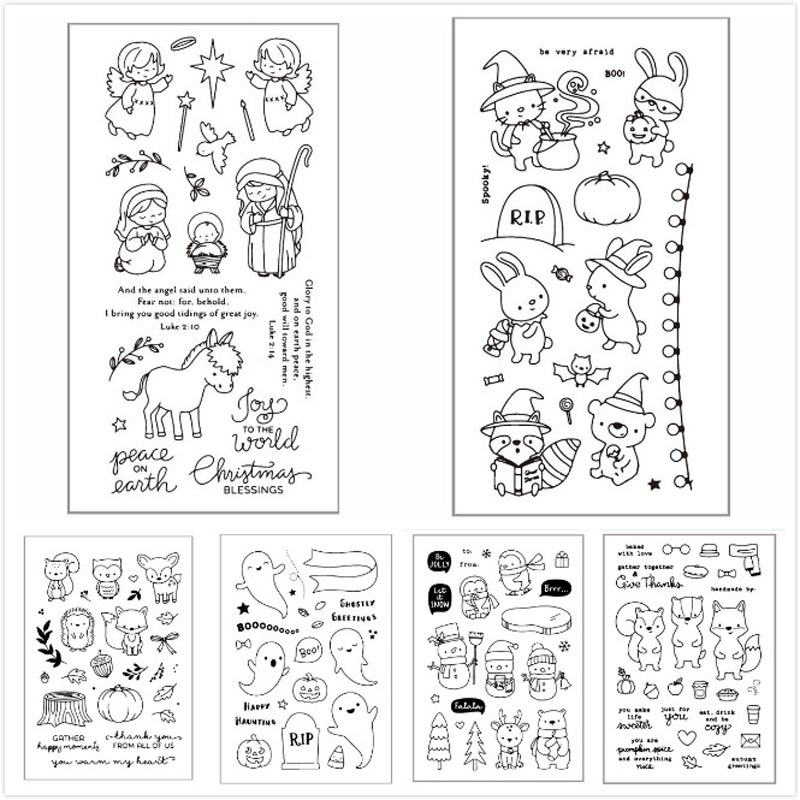 ZFPARTY Fall Transparent Clear Silicone Stamp/Seal for DIY scrapbooking/photo album Decorative card making