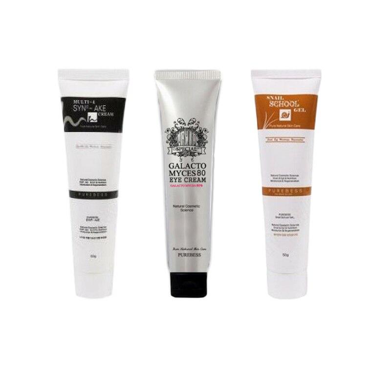 Purebess Multi 4 syn-ake crème + escargot école Gel + Galactomyces 80 crème yeux soin du visage Anti-âge hydratant corée cosmétique