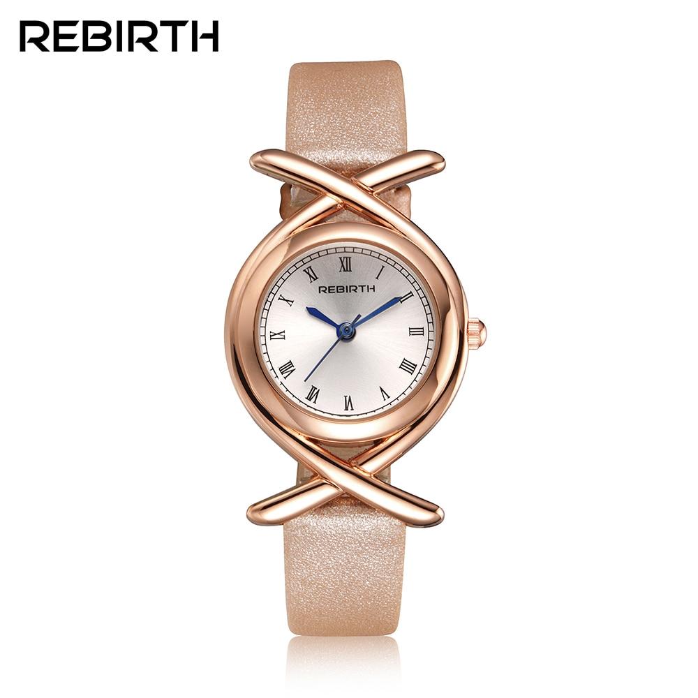 Ny Rebirth 3Bar Vattentålig Fashion Casual Topp Märke Luxury Quartz Armband Dam Armbandsur Vaktur Vaktur