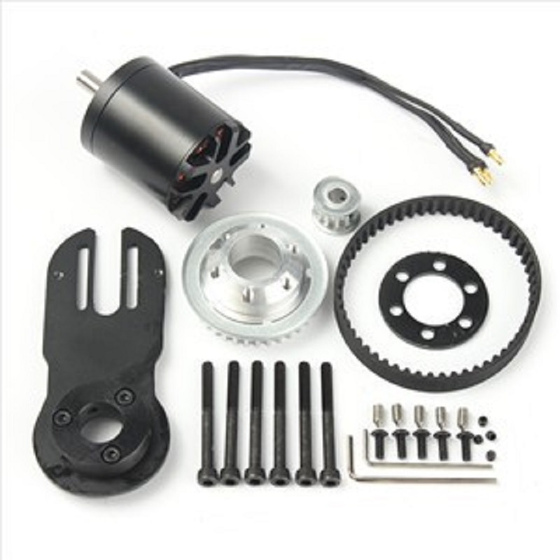 83mm 90mm 97mm Elektrische Skateboard 1800 watt Motor 5 mt Getriebe 270mm Gürtel Kit Und Motor mount Teile Riserpad