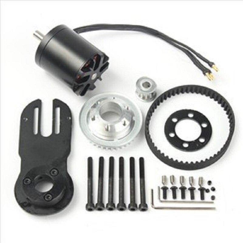 83mm 90mm 97mm eléctrico Skateboard 1800 W Motor 5 m de 270mm cinturones y Kit de Motor piezas de montaje de Riserpad