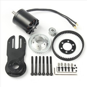 Image 2 - 83mm 90mm 97mm skate elétrico 1800w motor 5m engrenagem 270mm cinto kit e motor riserpad das peças do montagem