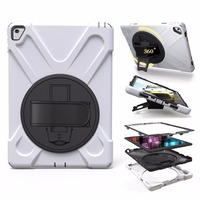 Colorful Shockproof Tablet Cases For iPad Air/Air 2/Pro 9.7/9.7 Silicone Protective With Hand Straps
