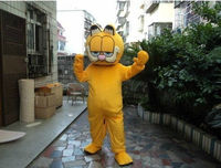 2017 Hot Sale Yellow Cat Cartoon Outfit Carnival Mascot Costume Fancy Dress School Mascot College Costume