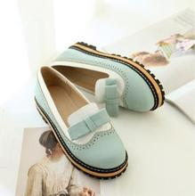 Spring And Autumn New Korean Special Offer With Flat Bow Shoes  Children Shoes Candy Color Round Female Students