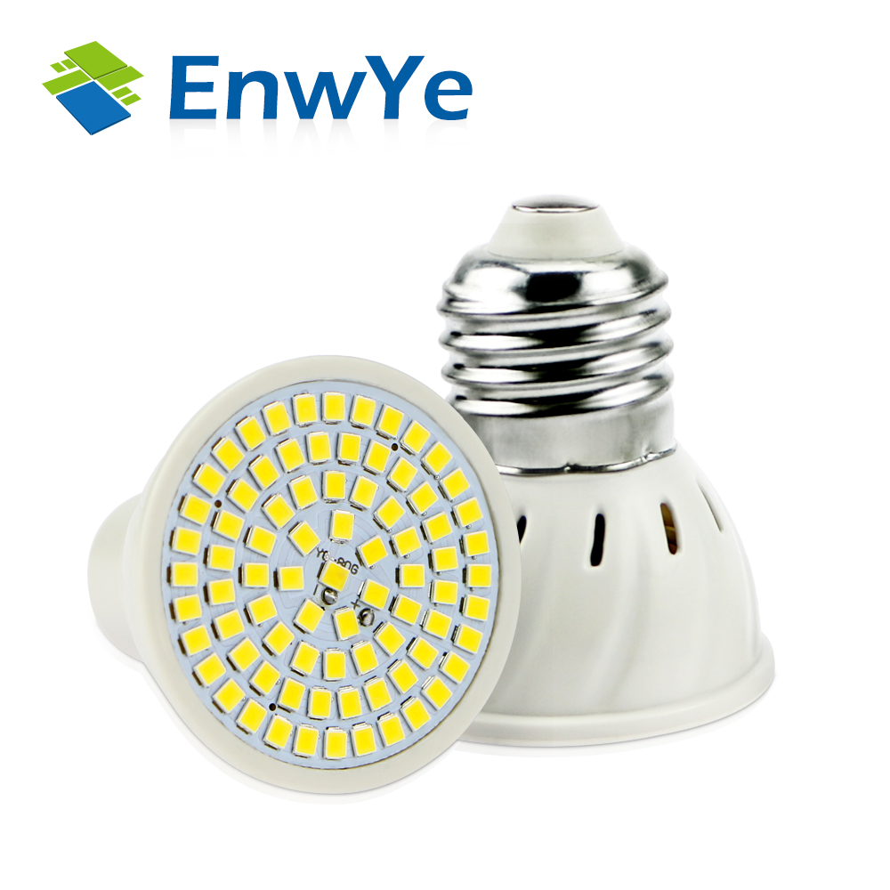Enwye e27 e14 mr16 gu10 lampada led lampe 110 v 220 v bombillas enwye e27 e14 mr16 gu10 lampada led lampe 110 v 220 v bombillas led lampen scheinwerfer 48 60 80 led 2835 smd lampara spot cfl in enwye e27 e14 mr16 gu10 parisarafo Images