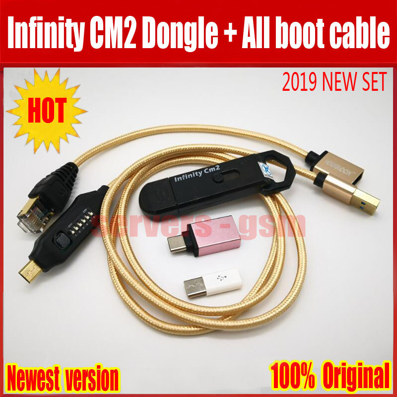2019 original new Infinity CM2 Dongle infinity box dongle umf all in one boot cable for