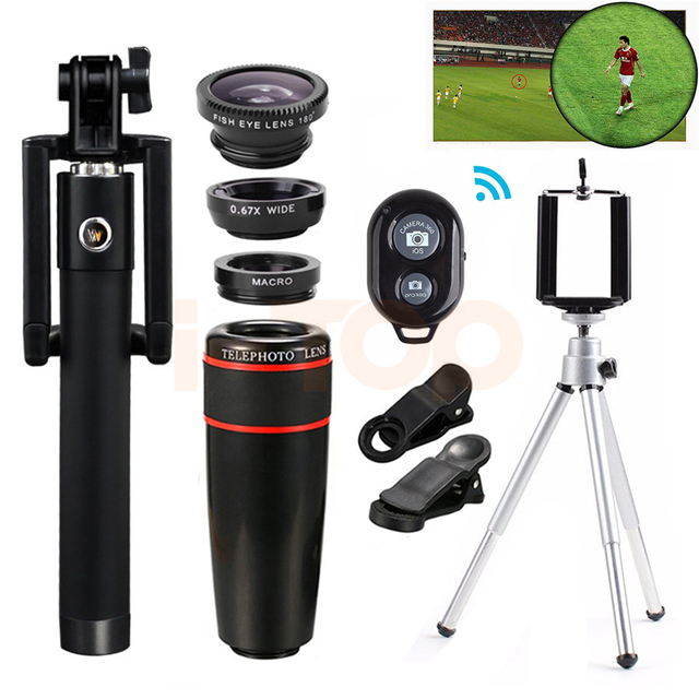 Mobile lens Kit 8X Zoom Telephoto Lenses Macro Wide Angle Fish eye...