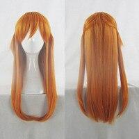 Japan Anime EVA Asuka Langley Soryu cosplay wig women Asuka orange long straight hair wig costumes with free hair cap