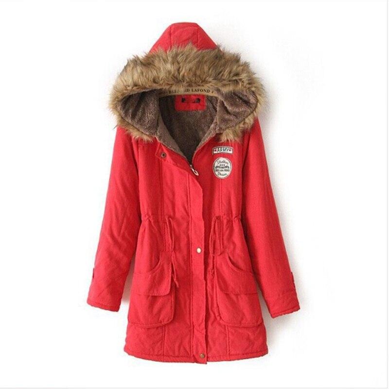 STAINLIZARD Warm Winter Coat Women Parkas Casual Cotton Fur Hooded Long Women Jacket Fashion Ladies Overcoat
