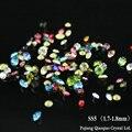 Mais cores para a escolha! 1440 peças SS5 (1.7-1.8mm) chatons de vidro apontou volta strass, decoração de Unhas