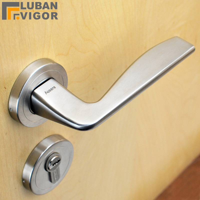 Split Indoor Mute Door Lock/handle,solid 304 Stainless Steel,European Door  Handle,Exquisite Workmanship,Door Hardware