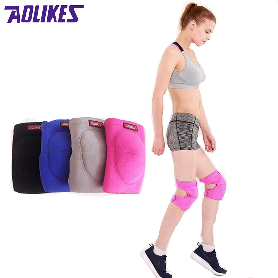 Aolikes 1Pcs Volleyball Knee Pads Thicker Sponge Sports Support Kneepads For Basketball Dance Joelheira Rodilleras Protector