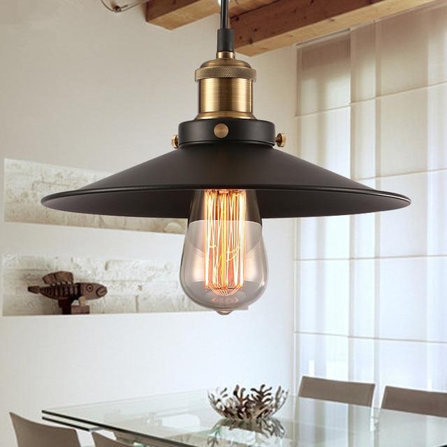 Aliexpress Com Buy Dining Room Retro Pendant Lamps: Aliexpress.com : Buy Loft RH Warehouse Black Pendant
