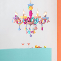 Modern Luster Crystal Chandeliers Lighting Wedding Decorations Coloful LED Pendant Lamp For Foyer Dining Room Restaurant