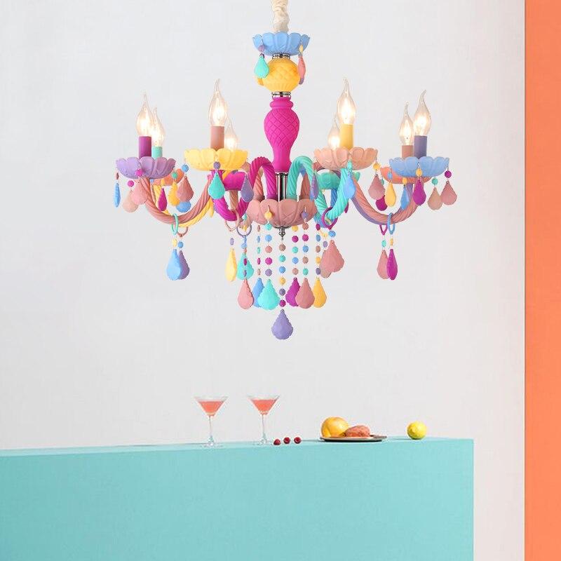 Moderne Lustre En Cristal Lustres Éclairage De Mariage Décorations Coloful LED Pendentif Lampe Pour Hall Salle À Manger Restaurant