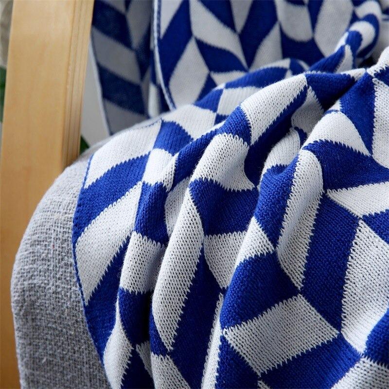 Чистый хлопок вязаный шерстяной плед Европейский жаккардовые взрослых хлопок одеяло листья трикотажные лист лето кондиционер одеяло