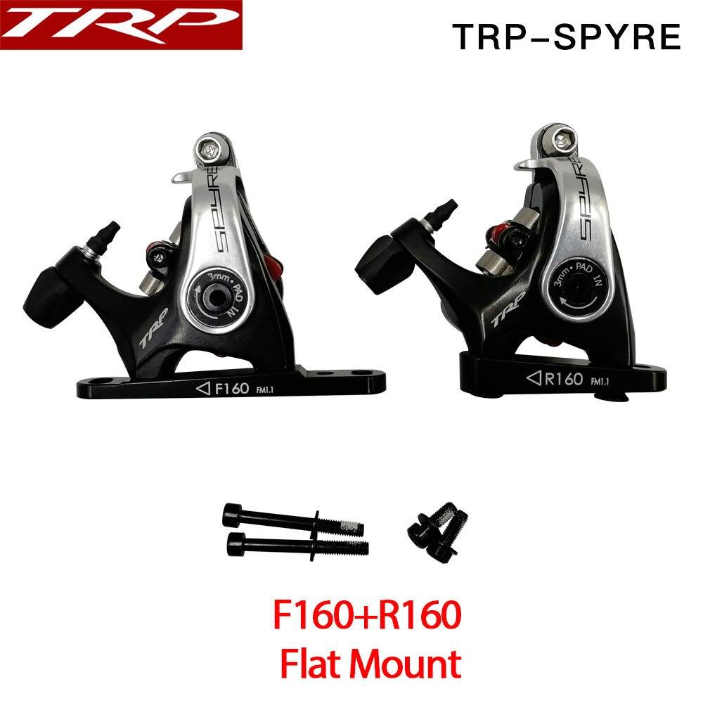 TRP Spyre Flat Mount Mechanical Dual Side Actuation Road Disc Brake Caliper SPYRE Front Rear 160mm