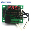 DC 12V Digital heat cool temp thermostat switch temperature controller Miniature temperature control switch panel