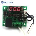 DC 12V Digital heat cool temp thermostat switch temperature controller Miniature temperature control switch panel