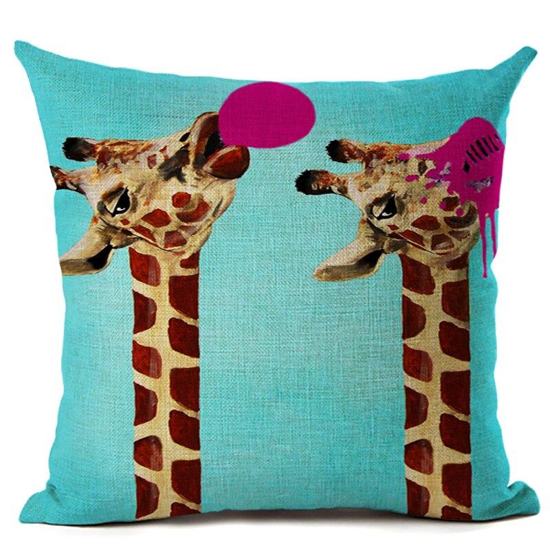 Amerikan Dizayn Kətan Yastıq Yastığı Yastıq Rəngarəng Züraf - Ev tekstil - Fotoqrafiya 4