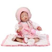 53cm Girl Boy Bebe Doll Rebornbody Silicone Vinyl Reborn Babies Children Bath Doll Toys Realista Bonecas Reborn Christmas Gift