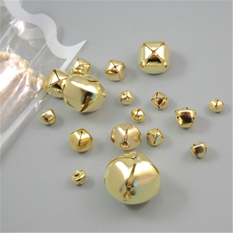 Scrapbooking Die Cutting & Embossing Machines 100Pcs Metal Bells DIY Christmas Decoration Handmade Jewelry Accessories_New