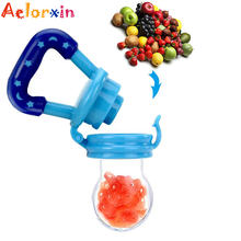 Newborn Food Supplement Baby Bottle Feeding Fruit Vegetable Feeder Baby Pacifier For Fruit Portable Nipples Chupeta Feed Kid(China)