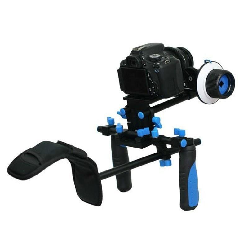 POPLAR DSLR Rig Movie Kit Shoulder Rig camera stabilizer for Video Camcorder Camera DV DSLR aluminum alloy handgrip holder dslr rig shoulder mount movie kit set camera stabilizer dslr rig easy for shooting camera