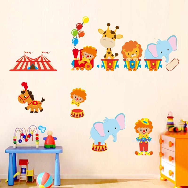 Cartone animato animale da circo wallpaper soggiorno