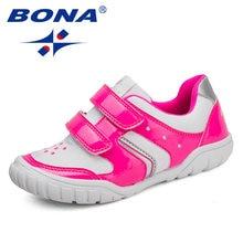 Bona новые модные стильные детские повседневные туфли на липучке