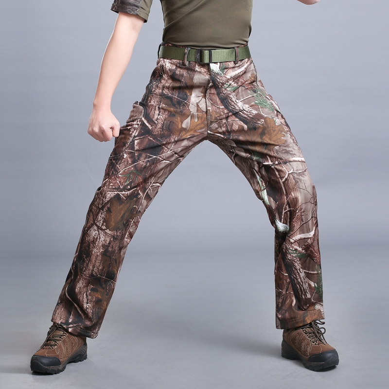 MEGE Soft Shell Tactical Camouflage Pants Men Combat Waterproof Military Cargo Warm Fleece Camo Winter Warm Army Modis Trousers 24