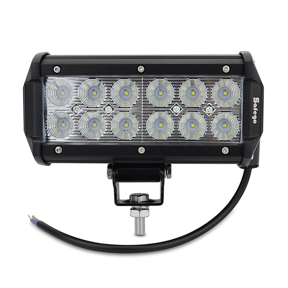 1x7 inch 36 W 3030 LED Light Bar untuk Truk Trailer 4WD SUV ATV - Lampu mobil - Foto 2