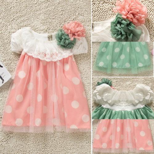 hot sale 2015 new arrival Baby Girls Polka Dot tutu Dress Clothes Newborn Baby Summer Dress kid Sundress children dress