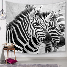 Nordic style zebra Tapestry Home Decorations Wall Fabric Hanging Blanket Tapestries Farmhouse Decor