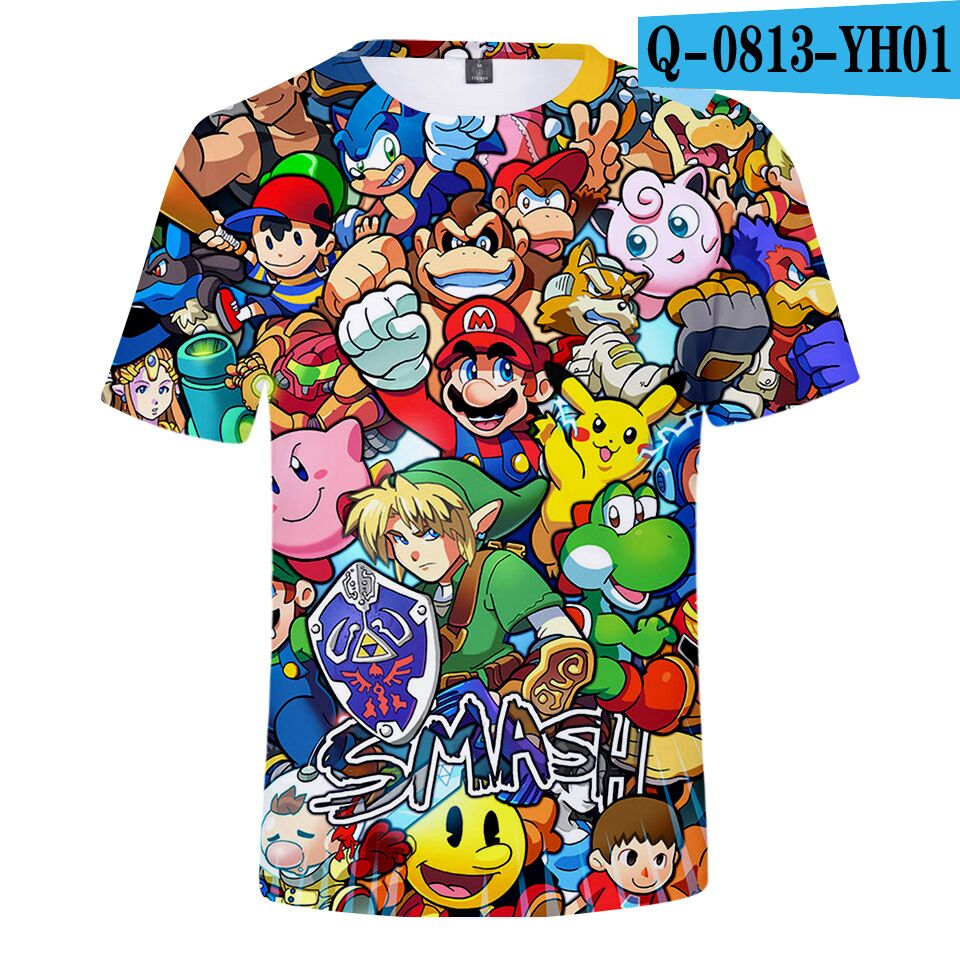 T-Shirts Kids Tops Super-Mario Clothing Short-Sleeves Girls Boys Children Summer Bros