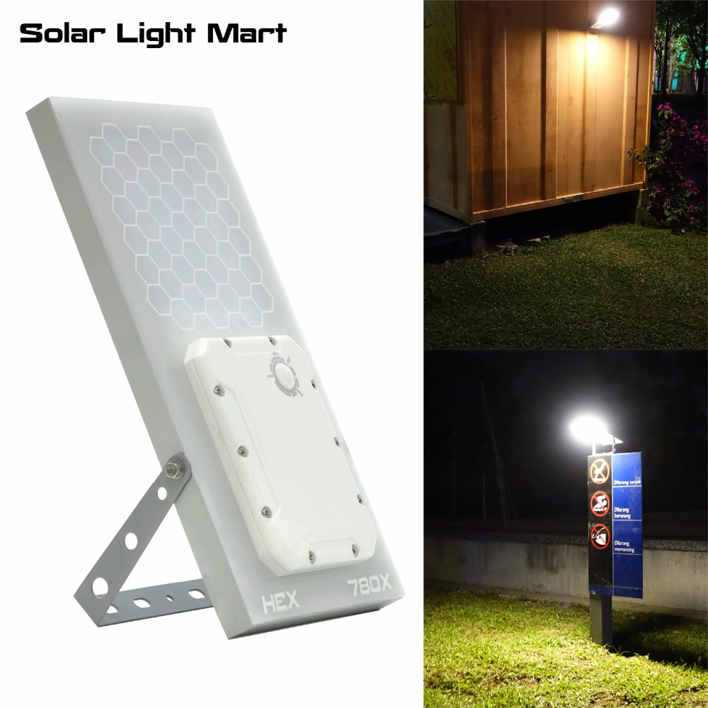 HEX 780X Warm White All in One Waterproof Day/Night Sensor 3 Power modes Solar Powered LED Outdoor Light Solar Wall Light solar powered 3 led white flashlight keychain silver