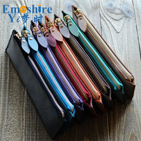 Brand High Quality Handmade Genuine Leather Pencil Bag Cowhide School Pencil Cases For School Office Supplies Stationery B242