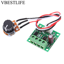 цена на Low Voltage DC 1.8V to 15V 2A Mini PWM Motor Speed Controller Regulator Control Module