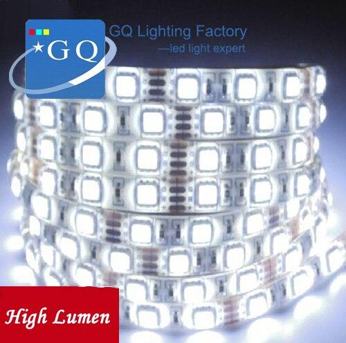 60Leds/M 5050 Warm / White RGB Flexible Led Strip Light string rope ribbon tape lighting 300leds 5M DC 12V