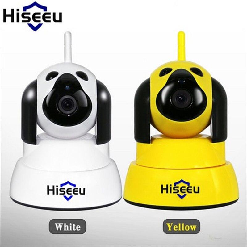 Hiseeu sécurité à domicile caméra IP Wi-Fi sans fil intelligent chien wifi caméra Surveillance 720 P IR Vision nocturne CCTV intérieur bébé moniteur