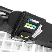 1X Автомобильный солнцезащитный козырек автомобильный футляр для солнечных очков Кредитная карта держатель для хранения интерьера для хранения ручки аксессуары черный монстр Тип