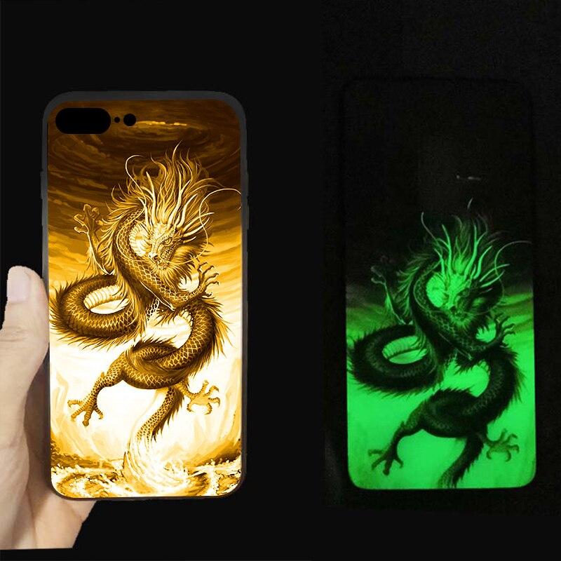 Marvel Avengers Batman Luminous Glass Case For iphone 7 8 6 6s Plus X 10 Black
