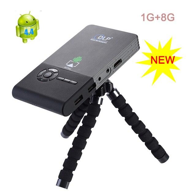 1000 Lumens dlp Pocket Projector Mini 1920x1080 Full HD LED Projector C2 Distance1-5M WIFI Projector Built in 5000mAh Battery